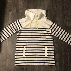 Talbots Striped Cowl Neck Sweatshirt